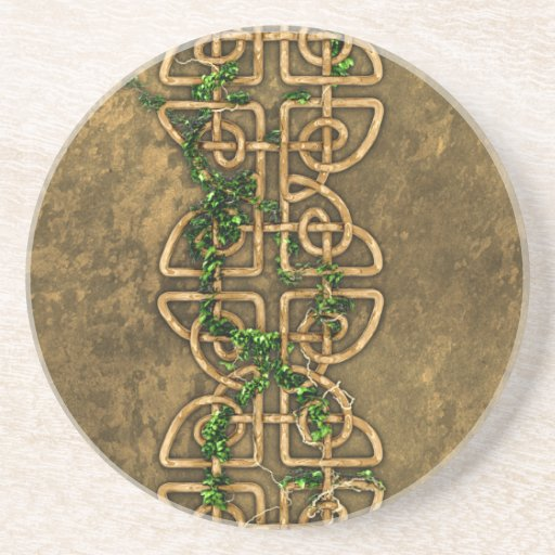 Decorative Celtic Knots With Ivy Drink Coaster Zazzle