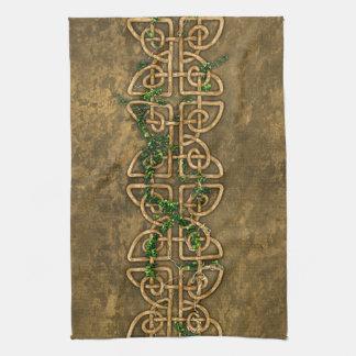 Decorative Celtic Knots With Ivy Tea Towel
