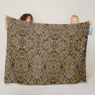 Decorative Celtic Survivalist Hunter Camo Quilt Fleece Blanket
