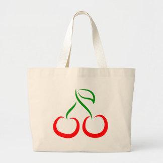 Decorative Cherries Jumbo Tote Bag