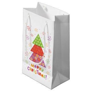 Decorative Christmas fir tree Small Gift Bag