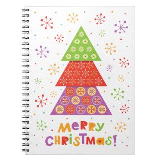 Decorative Christmas fir tree Spiral Notebook