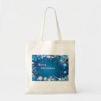 Decorative Christmas Gift Budget Tote Bag