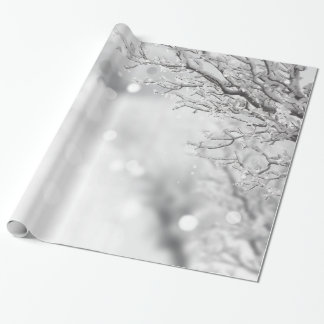 Decorative Christmas Snow with Glitter Wrapping Paper