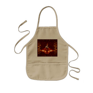 Decorative clef with awesome light effects kids apron