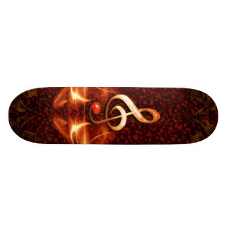 Decorative clef with awesome light effects skate board deck