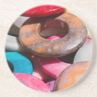 decorative colored rings coaster