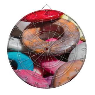 decorative colored rings dartboard