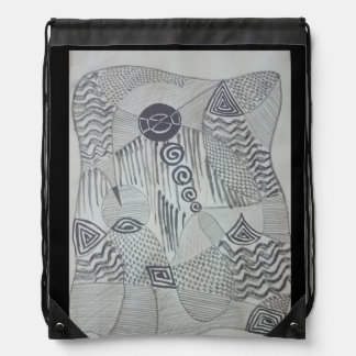 Decorative&Creative Drawstring Backpack