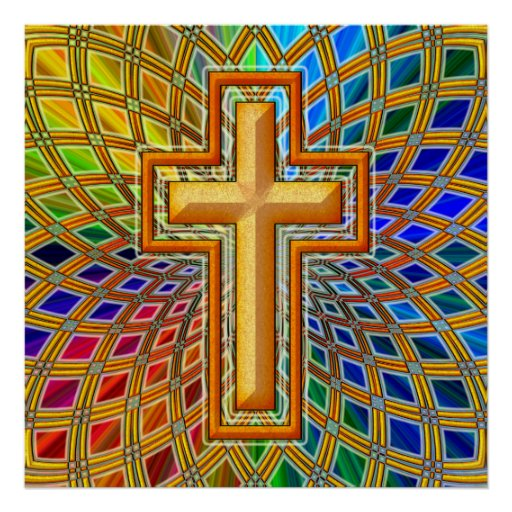 DECORATIVE CROSS POSTER