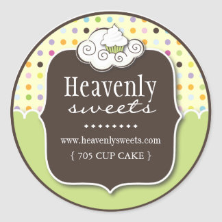 Decorative Cupcake    Pastry Chef Stickers