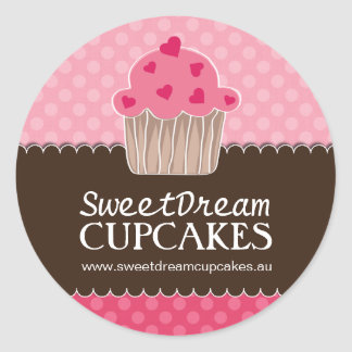 Decorative Cute Cupcake Jar Stickers
