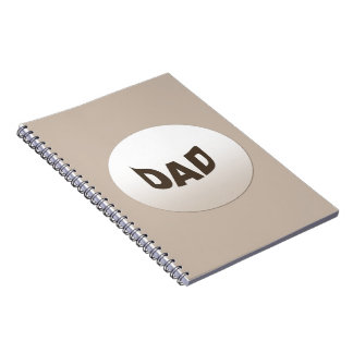Decorative Dad Spiral Note Book