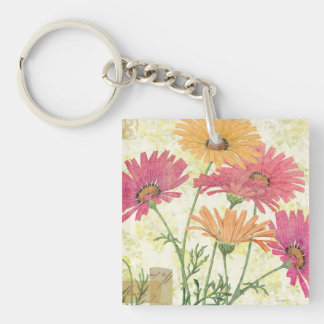 Decorative Daisies Key Ring