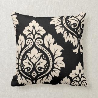 Decorative Damask Art I – Black & Cream (2-way) Throw Cushion