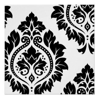 Decorative Damask Art I – Black on White