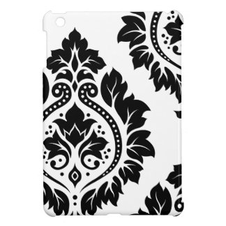 Decorative Damask Art I – Black on White iPad Mini Case