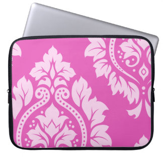 Decorative Damask Art I – Light on Dark Pink Laptop Sleeve