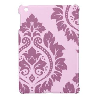 Decorative Damask Art I – Plum on Pink Case For The iPad Mini