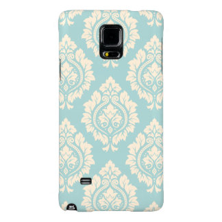 Decorative Damask Design Cream on Blue Galaxy Note 4 Case