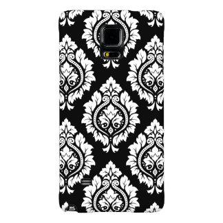 Decorative Damask Design White on Black Galaxy Note 4 Case
