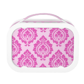 Decorative Damask Pattern – Dark on Light Pink Lunch Box