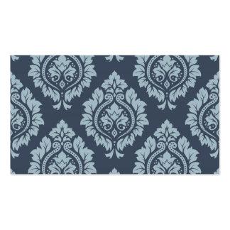 Decorative Damask Pattern Light on Dark Blue-Grey Pack Of Standard Business Cards