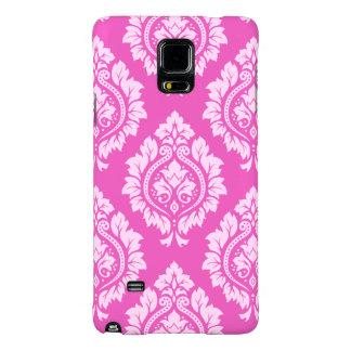 Decorative Damask Pattern – Light on Dark Pink Galaxy Note 4 Case
