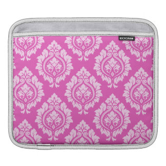 Decorative Damask Pattern – Light on Dark Pink iPad Sleeve