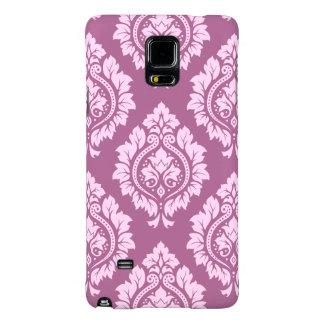 Decorative Damask Pattern – Pink on Plum Galaxy Note 4 Case