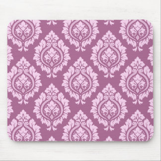 Decorative Damask Pattern – Pink on Plum Mouse Pad