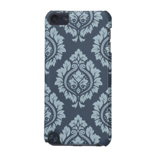 Decorative Damask Ptn - Light on Dark Blue-Grey iPod Touch 5G Cover