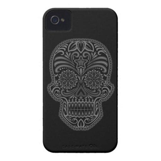 Decorative Dark Sugar Skull Case-Mate iPhone 4 Case