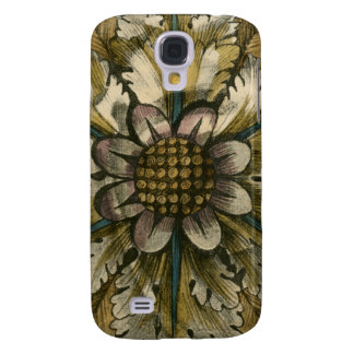 Decorative Demask Rosette on Grey Background Galaxy S4 Case