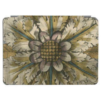 Decorative Demask Rosette on Grey Background iPad Air Cover