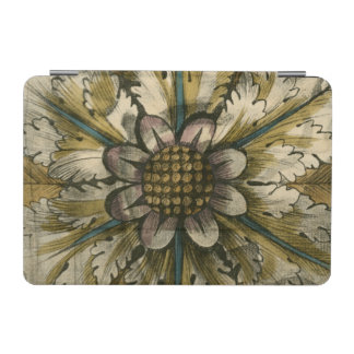 Decorative Demask Rosette on Grey Background iPad Mini Cover