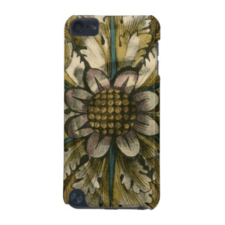 Decorative Demask Rosette on Grey Background iPod Touch 5G Cover