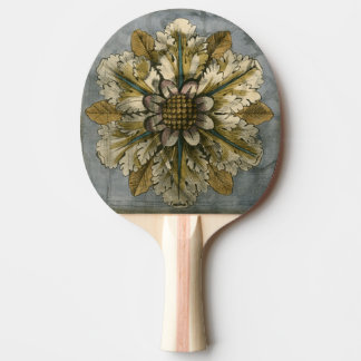 Decorative Demask Rosette on Grey Background Ping Pong Paddle