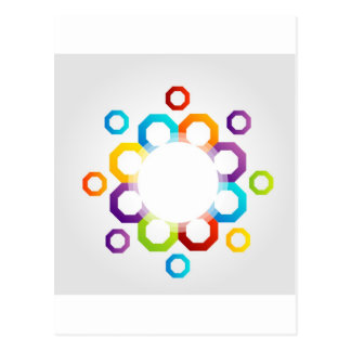 Decorative design element post card