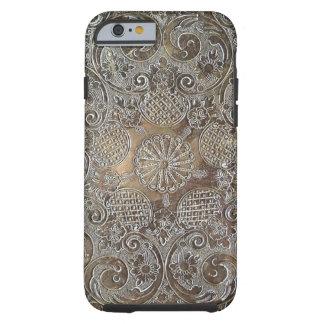 Decorative Design Flowers Metal Tough iPhone 6 Case