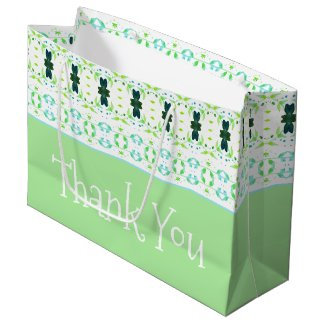 Decorative Designed Thank You Tote Style Large Gift Bag