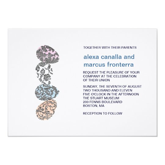 Decorative Eggs Wedding Invitation