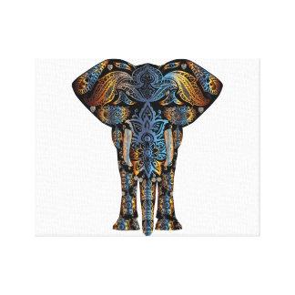 Decorative Elephant Stretched Canvas Prints