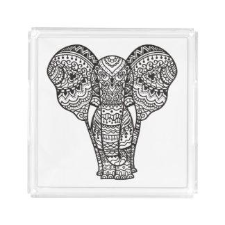 Decorative Elephant Style Acrylic Tray