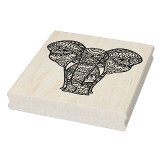Decorative Elephant Style Rubber Stamp