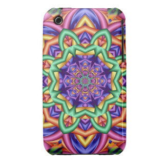 Decorative fantasy flower iPhone 3 cover