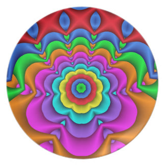 Decorative fantasy flower Party Plate
