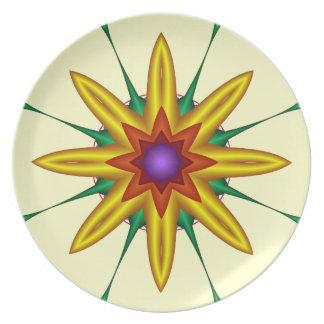 Decorative Fantasy Flower Plate