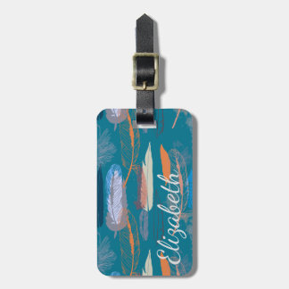 Decorative Feather Design Personalized Luggage Tag