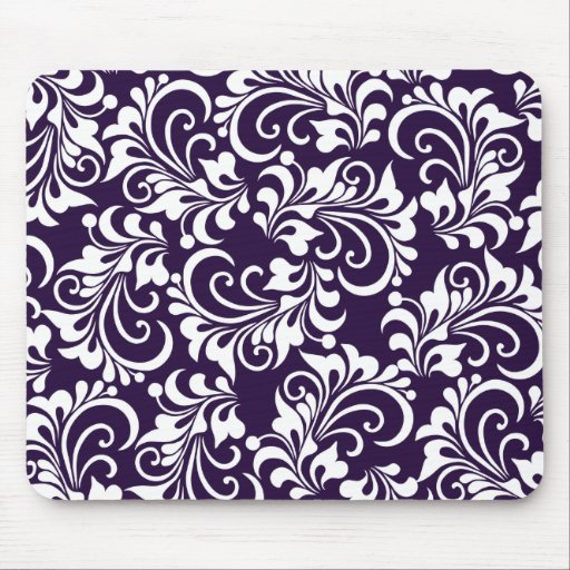 decorative floral background mouse pads